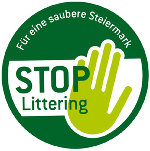 "Logo ""Stop Littering"" zum DOWNLOADEN © A14"